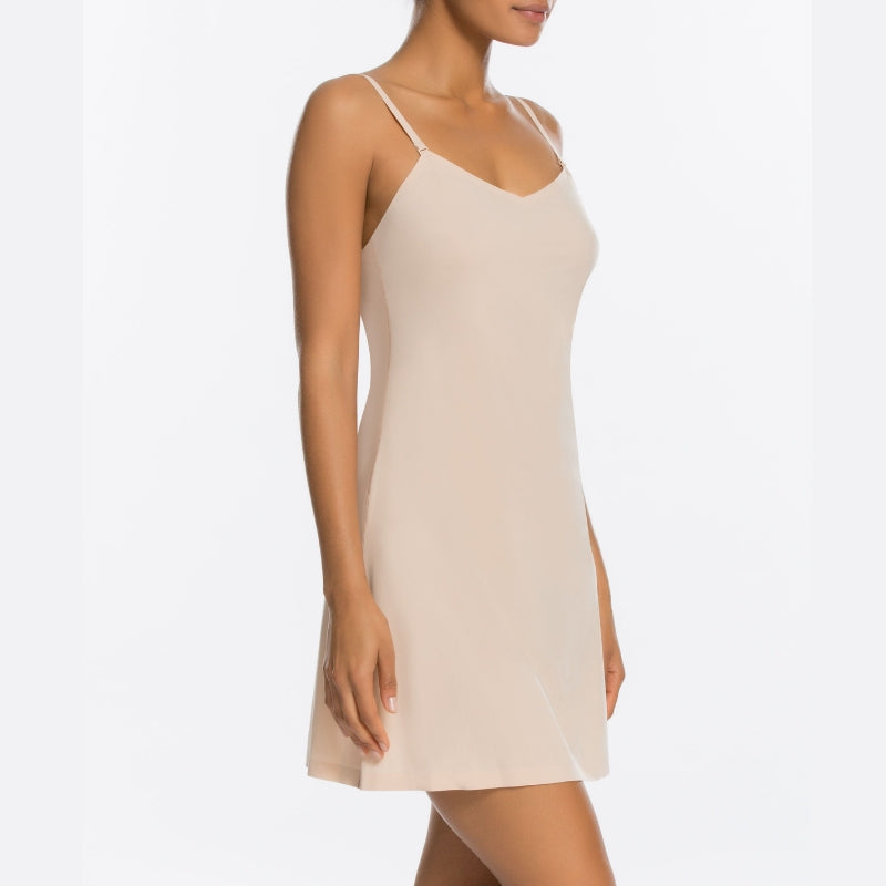 Spanx Thinstincts Shapewear Slip Nude Side View