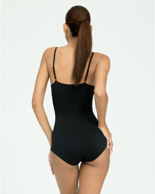 Spanx Thinstincts Women's Slimming Bodysuit Black Back View