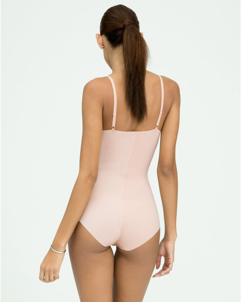 Spanx Thinstincts Women's Slimming Bodysuit Nude Back View