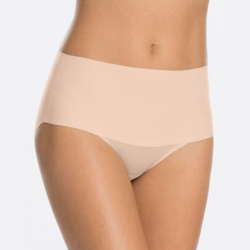 spanx undietectable control briefs front nude