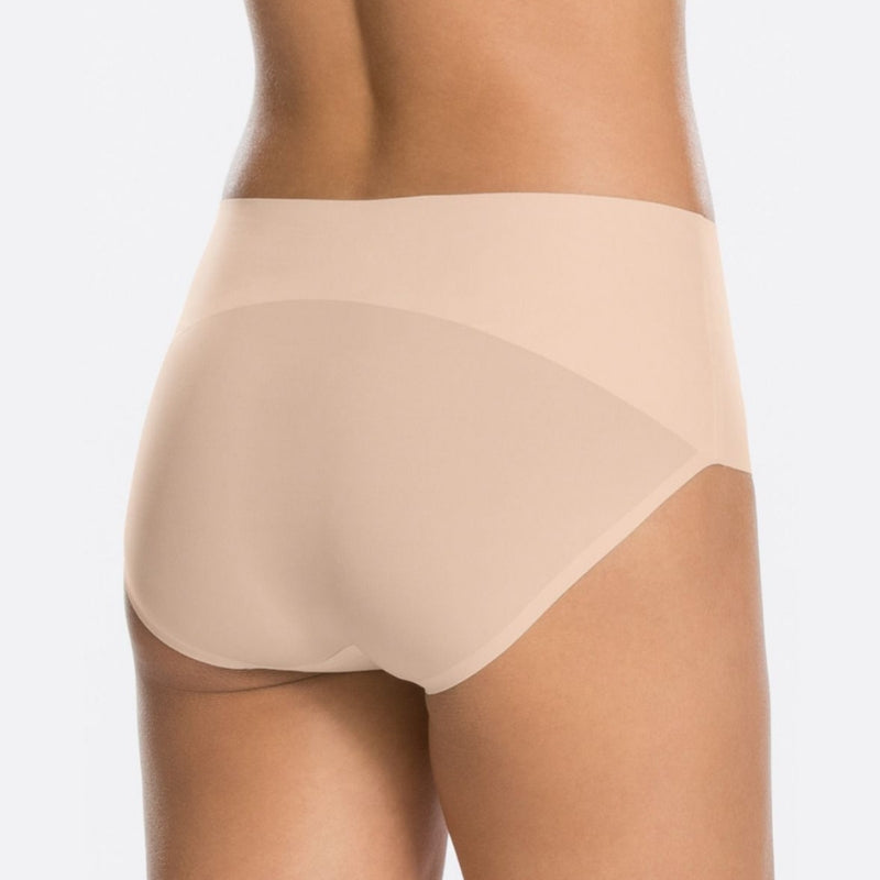 spanx undietectable control briefs back nude