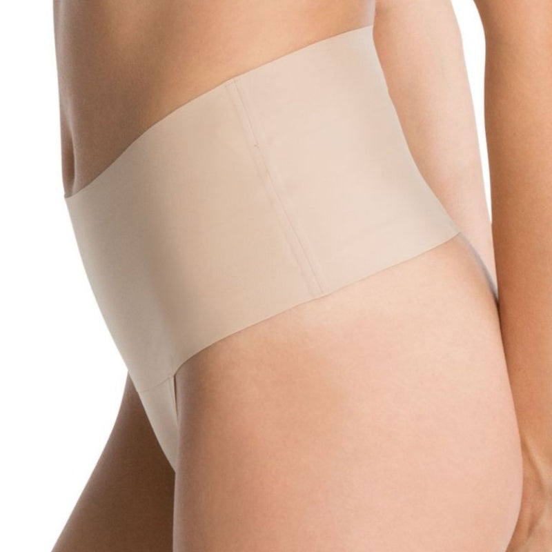 spanx undietectable control thong side nude