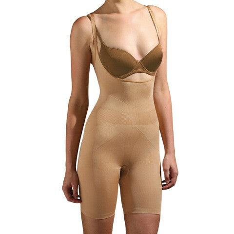 Trinny and Susannah All In One Body Shaper Natural Front View