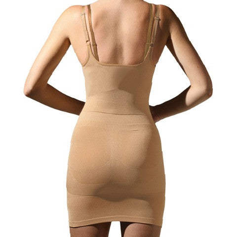Trinny and Susannah All In One Body Smoother Dress Natural Back View