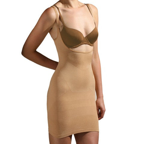 Trinny and Susannah All In One Body Smoother Dress Natural Front