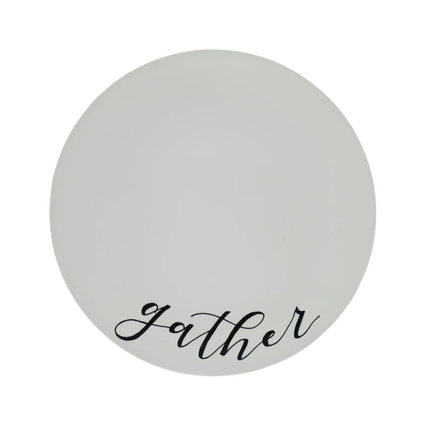 Customized Plates with Hand-Drawn Lettering