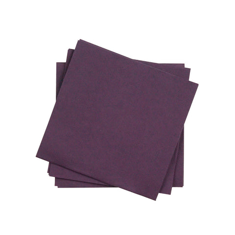Cocktail Napkin in Plum | Pack of 20