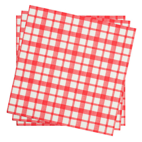 Dinner Napkin in Cherry Plaid Gingham | Pack of 10