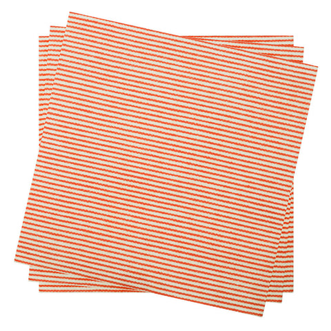 Dinner Napkin in Currant Bistro Stripe | Pack of 10