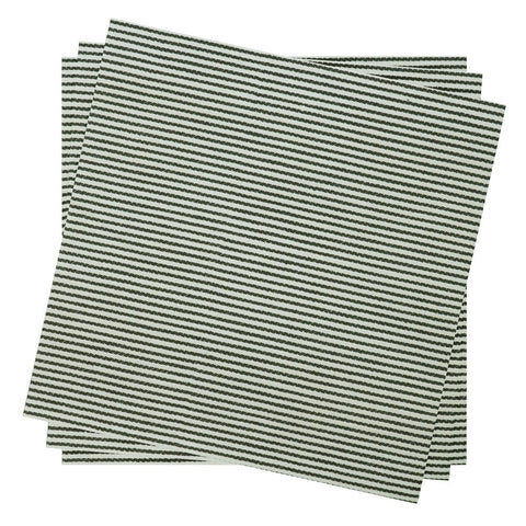 Dinner Napkin in Jett Bistro Stripe | Pack of 10