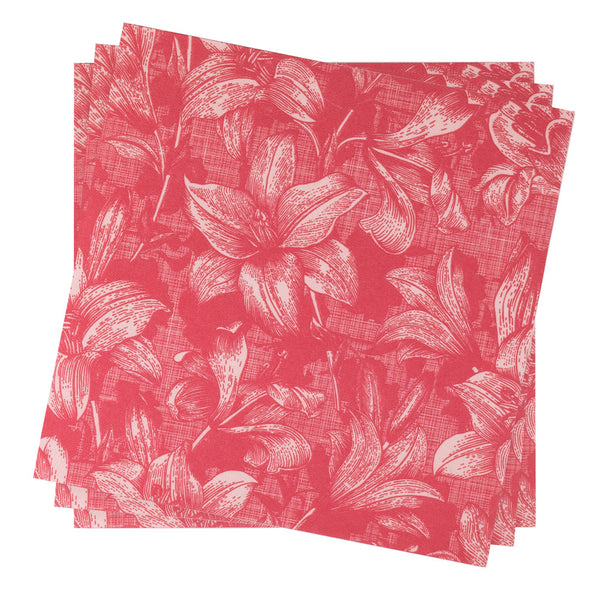 Dinner Napkin in Lily Cabana Bloom | Pack of 10