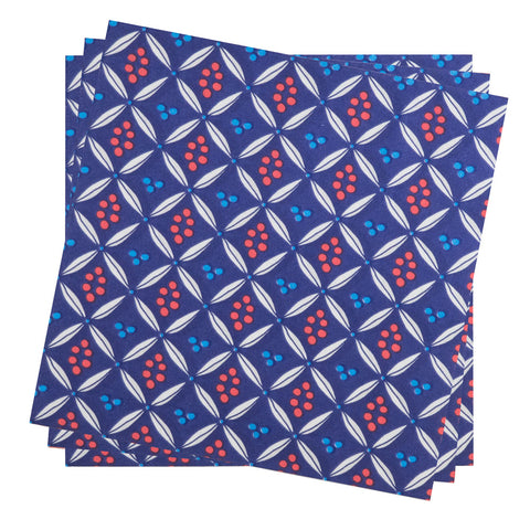 Dinner Napkin in Azure Painted Dot | Pack of 10