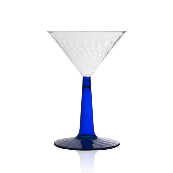 Fluted Martini Glass in Royal