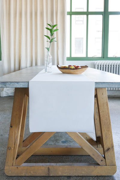 Table Runner in Blanc