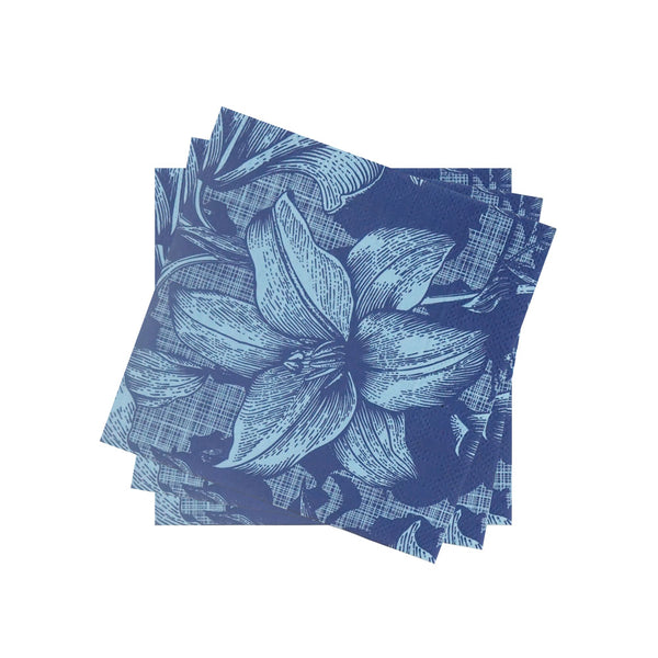 Lightweight Petite Napkin in Blue Cabana Lily Bloom | Pack of 10