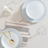 Dinner Napkin in Linen Stripe | Pack of 10