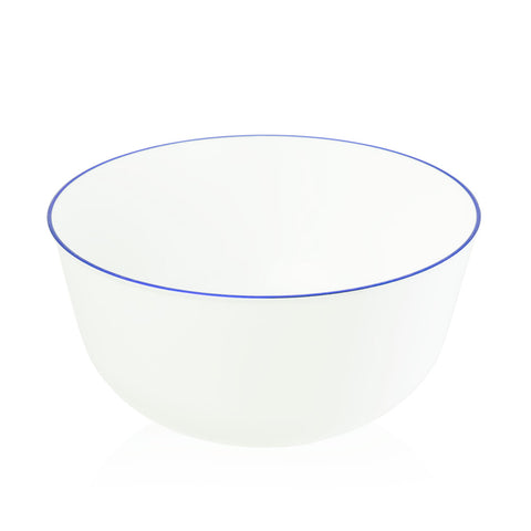 Bowl in Blue Dipped Blanc