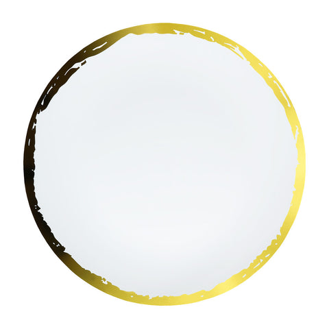Dinner Plate in Artisan Gold Rim