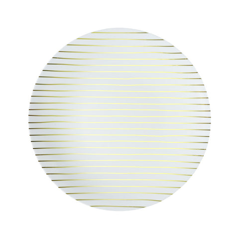 Salad Plate in Gold Stripe