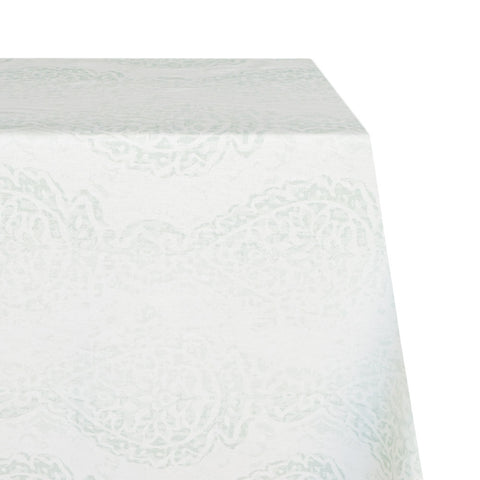 Midsummer Raw-Hem Fabric Tablecloth in Mint