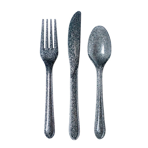 Glitter Flatware Set in Silver