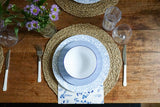 Salad Plate in French Blue Chalk Stripe