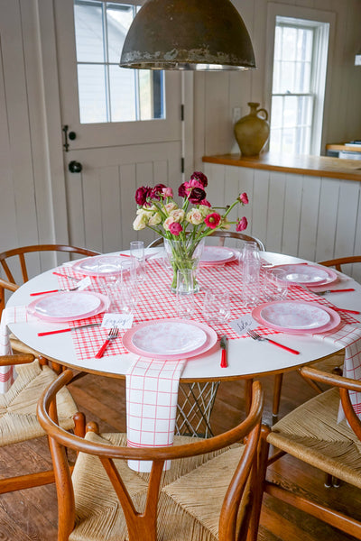 Slipcover in Cherry Plaid Gingham