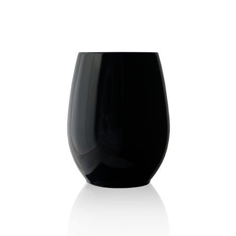 Stemless Wine Glass in Ebony
