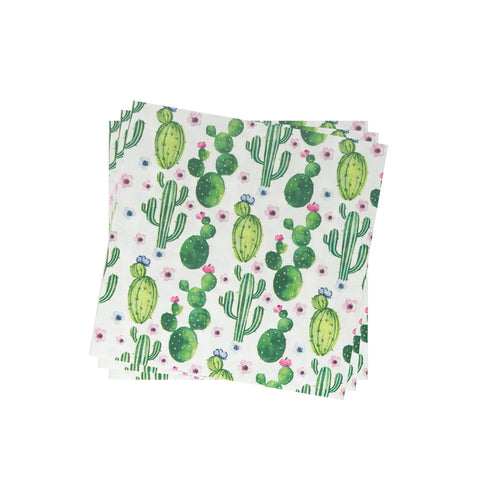 Lightweight Napkin in Blooming Floral Cacti | Pack of 10