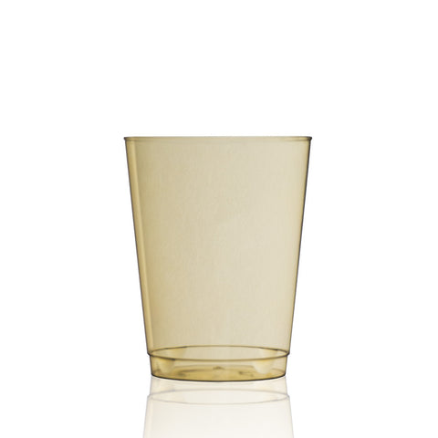 Tinted Water Glass in Warm Honey
