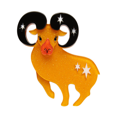 Aries the Achiever Brooch (Erstwilder resin brooch) - Glitterally.co.uk