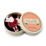 Madame Amore (Erstwilder Red and White Resin Poodle Brooch) - Glitterally.co.uk
