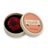 Red Poppy Field Brooch (Erstwilder Red Resin Poppy Brooch) - Glitterally.co.uk