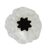 White Poppy Field Brooch (Erstwilder White Resin Poppy Brooch) - Glitterally.co.uk