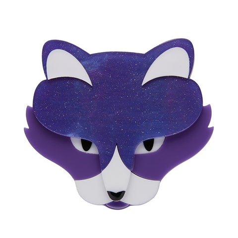 LeBeau the Luscious Brooch (Erstwilder Resin Purple Cat Brooch) - Glitterally.co.uk