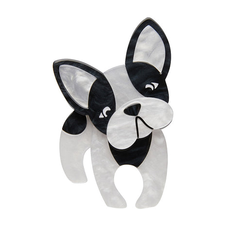 Fabian the French Bulldog Brooch (Erstwilder Resin Dog Brooch)