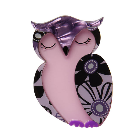 Olive Owl (Erstwilder Resin Brooch) - Glitterally.co.uk