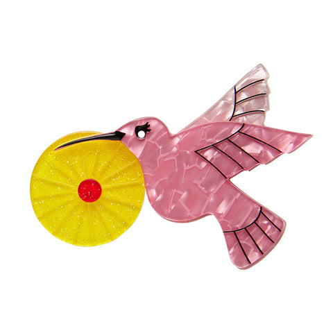 The Humble Hummingbird (Erstwilder Resin Brooch)
