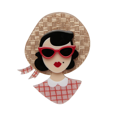 PICNIC PORTRAIT (Erstwilder Resin Portrait Brooch) - Glitterally.co.uk