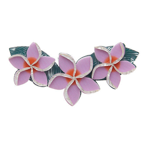 Get Leid (Erstwilder Lavender Resin Plumeria Lei Garland Brooch) - Glitterally.co.uk