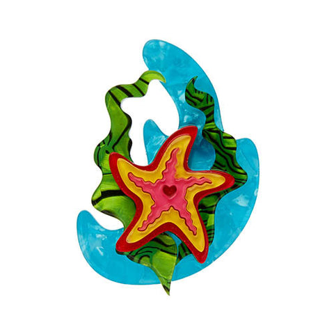 Ocean Wish (Erstwilder Multicolour Resin Starfish Brooch) - Glitterally.co.uk
