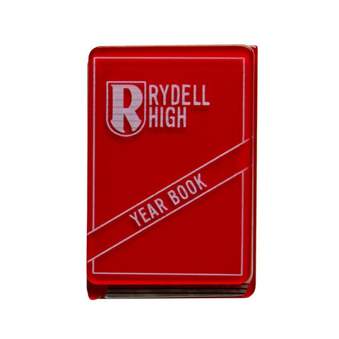 Rydell Forever (Erstwilder Red Resin Yearbook Brooch) - Glitterally.co.uk