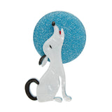 Ozzie the Orator (Erstwilder White Resin Dog Brooch) - Glitterally.co.uk
