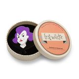 Into the Shadows  (Erstwilder Purple Resin Vampire Brooch) - Glitterally.co.uk