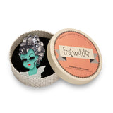 A Girl Named Elsa (Erstwilder Green Resin Zombie Girl Brooch) - Glitterally.co.uk