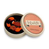 Stealthy Sand Dweller (Erstwilder Orange and Brown Brooch) - Glitterally.co.uk