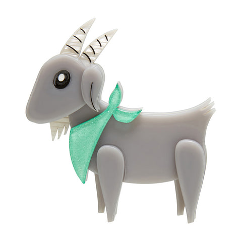 Billy The Kid (Erstwilder Grey and Green Brooch) - Glitterally.co.uk