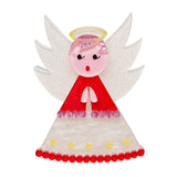 Nanna's Little Angel  (Erstwilder Red and White Angel Brooch) - Glitterally.co.uk
