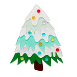 To Be Jolly (Erstwilder Green and White Resin Christmas Tree Brooch) - Glitterally.co.uk