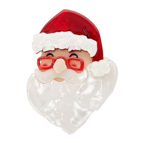 FATHER CHRISTMAS BROOCH (Erstwilder Resin Brooch) - Glitterally.co.uk